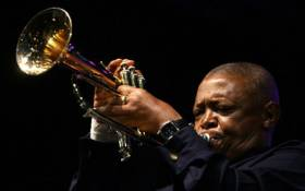 FILE: SA jazz great Hugh Masekela performed a mournful solo of one of Miriam Makeba songs in Johannesburg on November 15, 2008. Picture: AFP