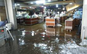 Food Lovers Market in Lenasia was affected by a hailstorm on 30 December 2017. Picture: Faizel Patel/EWN.