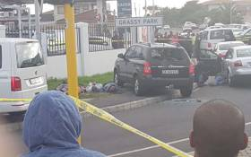 Police pursued two hijacked vehicles travelling towards Grassy Park. The shootout ensued resulting in one suspect being shot and injured. Picture: @SAPoliceService/Twitter