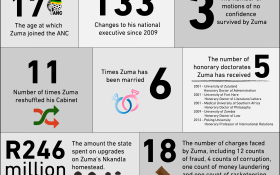 A look at Zuma's career by numbers