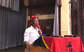 Economic Freedom Fighters' leader Julius Malema addressed members in Westenburg in Polokwane on Saturday 13 January 2018. Picture: Twitter/@EFFSouthAfrica