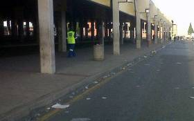 The Bara taxi rank in Soweto was like a ghost town during the taxi strike on 17 November 2014. Picture: @SheilaLesufi via Twitter