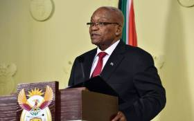 Jacob Zuma delivering an address on 14 February 2018 in which he announced his resignation as president of South Africa. Picture: GCIS.