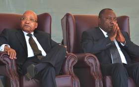 President Jacob Zuma (left) and his deputy, Cyril Ramaphosa (right). Picture: GCIS