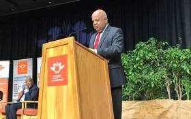 Former Finance Minister Pravin Gordhan addressing masses on state capture and white monopoly capital at the University of Johannesburg on 26 July 2017. Picture: Katleho Sekhotho/EWN