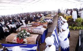 Mass funeral service for KwaXimba road crash victims at Manzolwandle Sport Ground. Picture: Mbuyiselo Ndlovu.