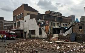 The Doornfontein building in Johannesburg where a wall collapsed, killing three children. Picture: Katleho Sekhotho/EWN