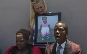 """Nontombi Gwam the mother of three-year-old Latoya Gwam who passed away at Pastor Paseka """"Mboro"""" Motsoeneng's church gives a press conference to media at her home in Daveyton. Picture: Ihsaan Haffeejee/EWN"""