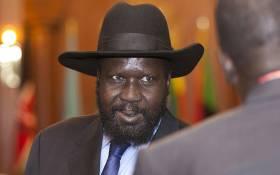 FILE: South Sudan's president Salva Kiir. Picture: AFP.
