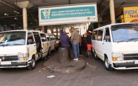 FILE: Noord Taxi Rank in the Johannesburg CDB. Picture: Vumani Mkhize/EWN.