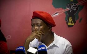 FILE: EFF leader Julius Malema addressed the media at their headquarters in Braamfontein, Johannesburg on 23 January 2017. Picture: EWN.