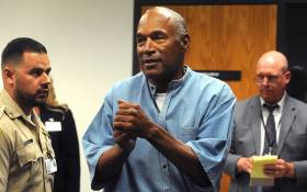 OJ Simpson during his parole hearing at the Lovelock Correctional Center in Nevada on 20 July 2017. Picture: AFP.