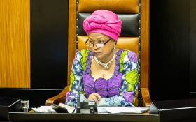 Speaker Baleka Mbete in Parliament during a question and answer session by Deputy President Cyril Ramaphosa on 19 November 2014. Picture: Aletta Harrison/EWN