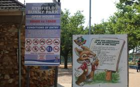 The entrance to the Bunny Park in Benoni. Picture: Christa Eybers/EWN.