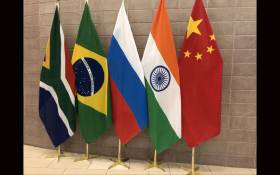 Brics countries flags. Picture: @SAgovnews/Twitter.