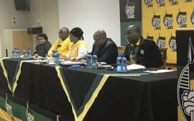 President Jacob Zuma and other members of the NEC. Picture: Clement Manyathela/EWN.