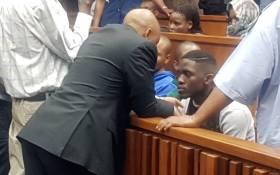 Sandile Mantsoe in court on 15 September 2017 for the murder of his girlfriend Karabo Mokoena. Picture: EWN.