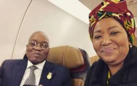 President Jacob Zuma with wife Thibeka Madiba-Zuma. Picture: Instagram/@firstladytzuma
