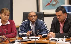 DA members in the Cape Town city council held a press briefing to explain why they have no confidence in former mayor Patricia de Lille. The majority of the group feel the leader did not lead by example. Picture: Bertram Malgas/EWN