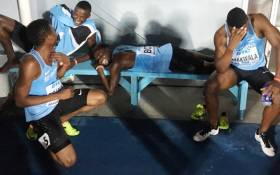 FILE: Botswana team are seen ahead of the men's 4x400 meters relay final at the World Athletics Championships. Picture: Twitter/@BWGovernment.