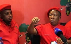 FILE: EFF leader Julius Malema briefs the media in Braamfontein, Johannesburg on 5 February 2018. Picture: Kayleen Morgan/EWN