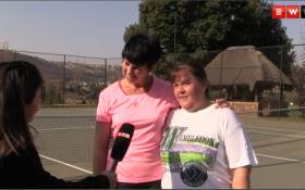 Bob Hewitt has not defeated these ladies - they are back on the tennis court. Picture: Screengrab
