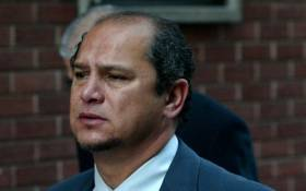 Durban businessman Schabir Shaik arrives at the Durban High Court on Friday 29 July 2005 to hear if his application for leave to appeal against his conviction and sentence will be granted.Judge Hilary Squires, who last month found Shaik guilty of fraud and corruption, will announce his findings today. Picture: Werner Beukes/SAPA