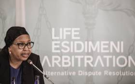 Former Gauteng Health MEC Qedani Mahlangu testifies at the Life Esidimeni hearing on 22 January 2018 in Parktown. Picture: AFP.