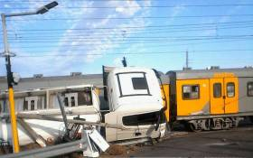 A train collided with a diesel tanker at the Muldersvlei level crossing on 19 September 2017. Picture: Supplied.