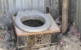 A pit toilet. Picture: Cindy Archillies/EWN