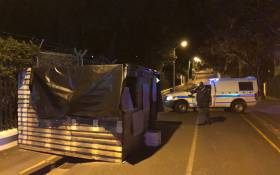 A view of the shack seen outside Western Cape Premier Helen Zille's official Leeuwenhof residence on 18 July 2018. Picture: Bertram Malgas/EWN