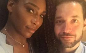 Serena Williams and fiancé Alexis Ohanian. Picture: Instagram/@serenawilliams