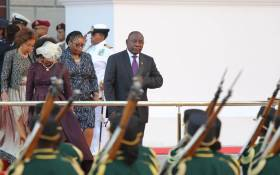 President Cyril Ramaphosa outside Parliament before the State of the Nation Address on 16 February 2018. Picture: Christa Eybers/EWN