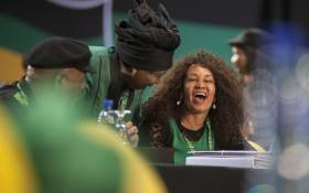 FILE: Lindiwe Sisulu shares a laugh with Dr Nkosazana Dlamini Zuma at the start of the ANC's 54th national conference on 16 December 2017. Picture: Ihsaan Haffejee/EWN.