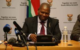 Cooperative Governance and Traditional Affairs Minister Zweli Mkhize addresses the media in Parliament on behalf of government's task team on the water Crisis. Picture: Cindy Archillies/EWN.