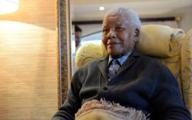 Nelson Mandela at his homestead in Qunu, in the Eastern Cape, two days before his 94th birthday. Picture: Lyoness.TV.