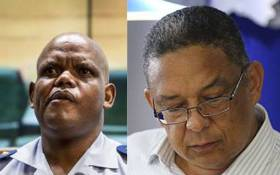 Acting National Police Commissioner Kgomotso Phahlane (L) and Ipid head Robert Mcbride (R). Picture: EWN.