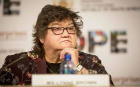 FILE: Minister of Public Enterprises Lynne Brown briefs the media on the state of Eskom at their offices in Woodmead. Picture: Thomas Holder/EWN.