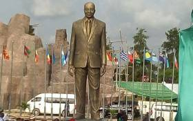 A statue of President Jacob Zuma is seen in Nigeria's Imo State. Picture: GCIS