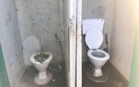 Toilets in Phumlani village. Picture: Monique Mortlock/EWN
