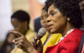Advocate Thuli Madonsela during of her final press conference in Pretoria. Picture: Reinart Toerien/EWN.