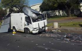 The scene of a cash-in-transit heist on Atlas Road in Boksburg. Picture: Supplied