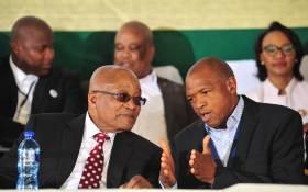 President Jacob Zuma and North West Premier Supra Mahumapelo. Picture: GCIS.
