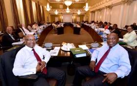 President Jacob Zuma, Deputy President Cyril Ramaphosa, Ministers and Deputy Ministers at the scheduled routine meetings of Cabinet committees on 7 February 2018. Picture: GCIS.