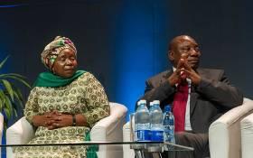 Nkosazana Dlamini Zuma and Cyril Ramaphosa. Picture: GCIS