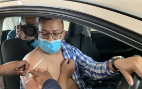CT launches it's first drive-through vaccination site at Athlone Stadium