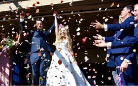 Carl Wastie surprises Amy Tjasink with wedding day practical joke