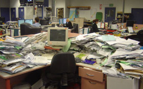 Who's got the messiest desk?