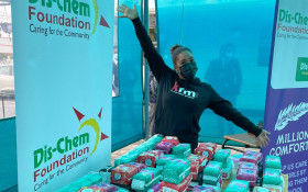 Dis-Chem's Million Comforts delivers sanitary pads to Soneike High School