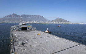 """USS Hershel """"Woody"""" Williams visits Cape Town"""